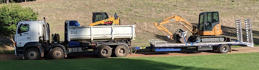 positrack and excavator
