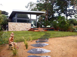 🌿One of our coastal landscaping projects, featuring blue stone steppers🌿#bluestone #landscaping #d