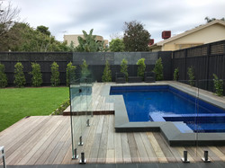Pool Decking, Garden Lighting, Turf