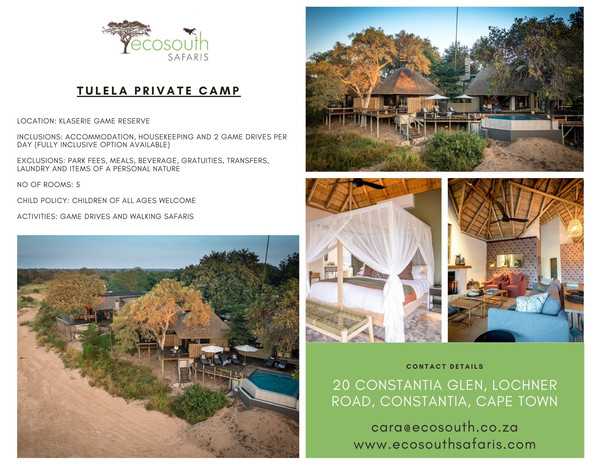 Exclusive use - Kruger Park Private rese