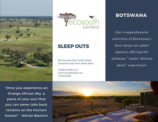 Sleep outs in Botswana and Namibia - Eco
