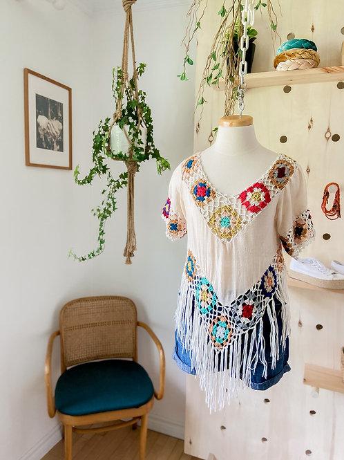 Haut Crochet à Frange & Levi's short