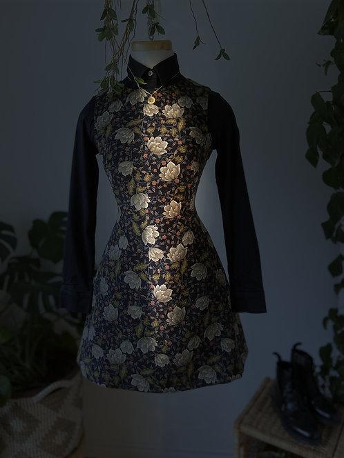 Jolie Robe fleurie & Chemise noire