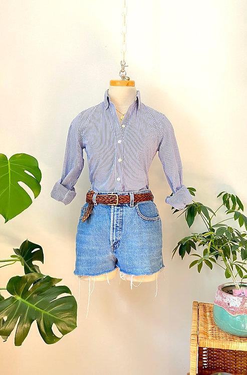 Les shorts parfaits | Chemise rayée et Short de jeans LOIS