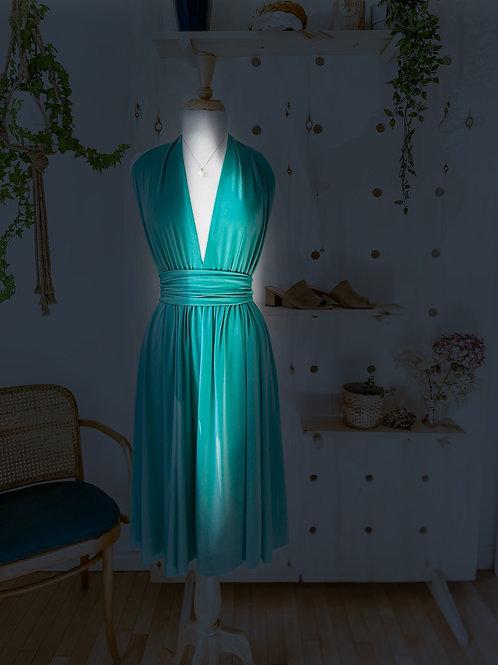 Robe Marilyn Aqua Vintage