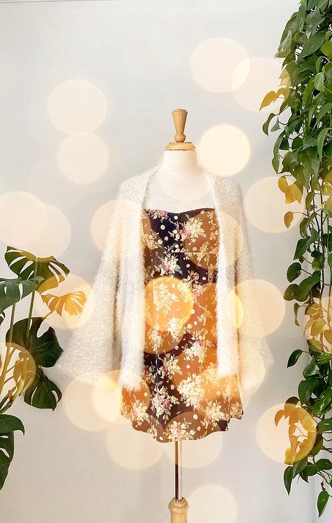 La romantique   Robe bustier & Veste molletonnée brillante