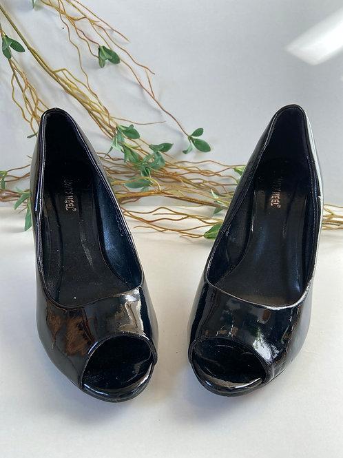 Open toes vernis noir
