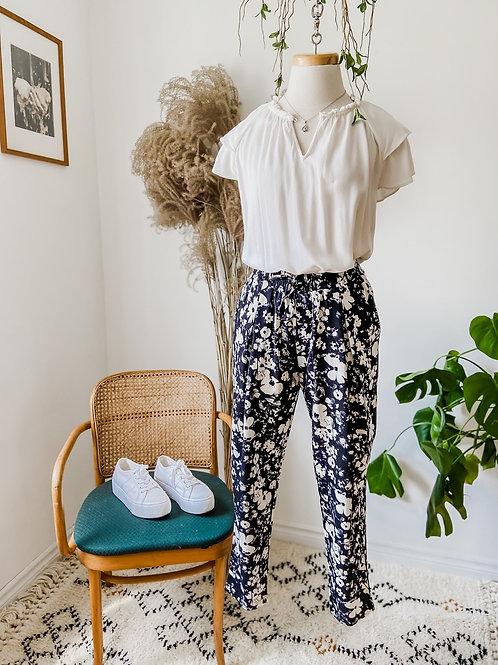 Pantalons imprimés & Haut crème