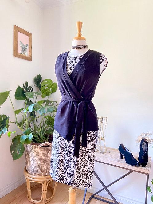 Ladies Boss | Robe léopard & Veste noire