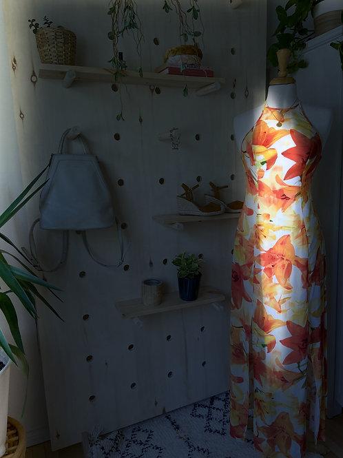 Robe Longue Fleurs Tropicales