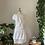 Thumbnail: Robe blanche à une épaule & Ceinture lignée