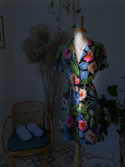 Robe chemise Hawaïenne