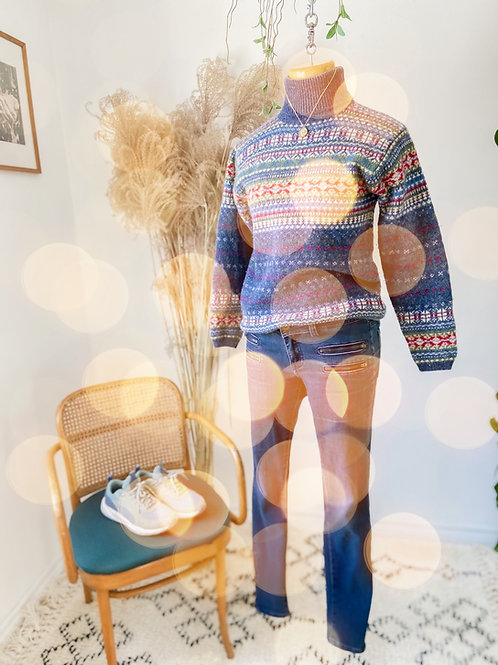 Le Scandinave | Tricot 100% Laine & Skiny jeans ELEMENT