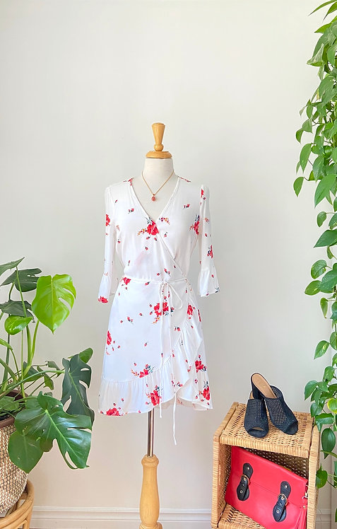 Summer time | Robe portefeuille fleurie