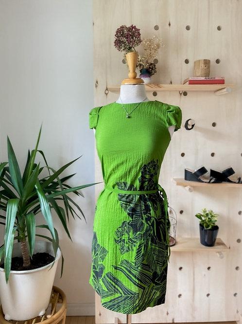 Robe verte imprimée