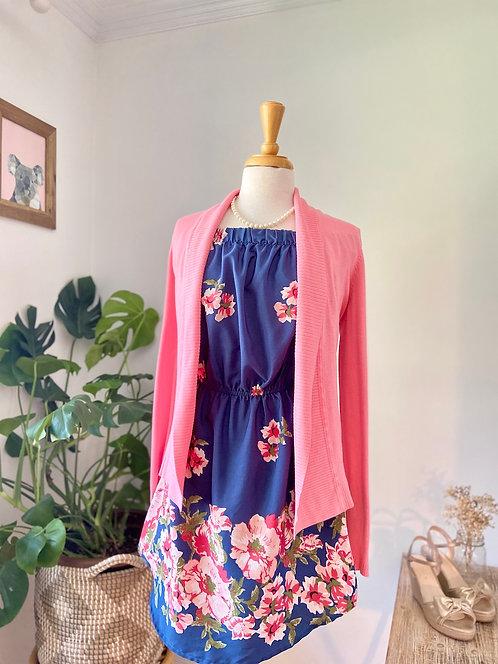 Robe épaules & Veste rose bonbon
