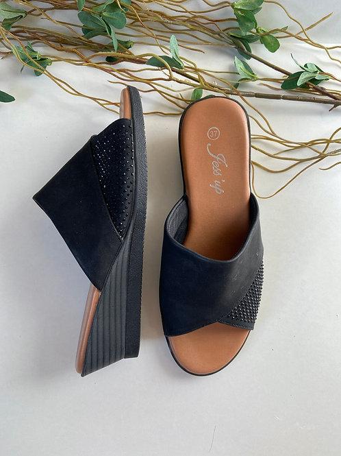 Sandales semi compensé
