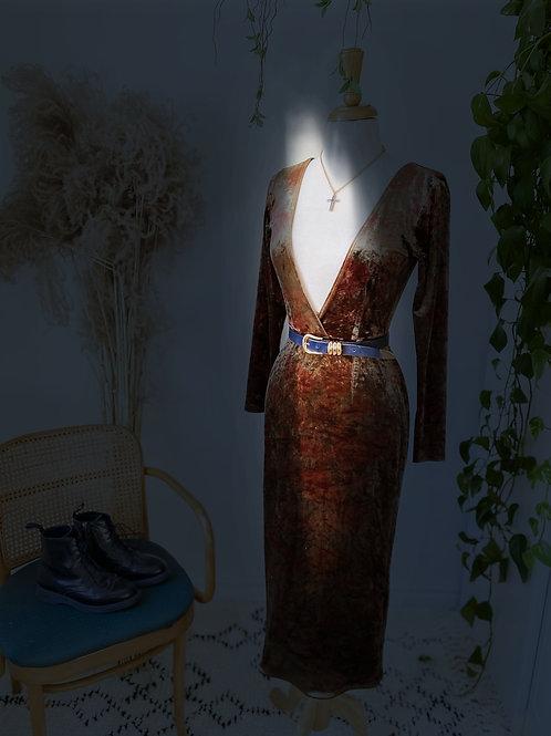 Royal | Robe réversible de satin
