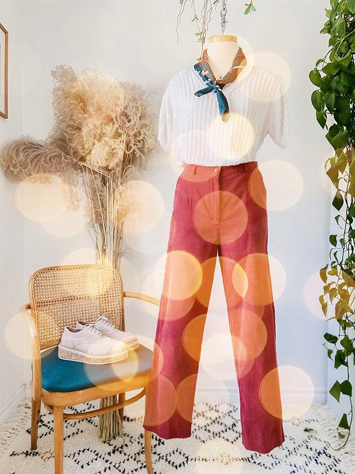 Pantalon suède & Crop tricot + Foulard