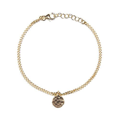 Armband Melilis vergoldet mit kleinem Amulett