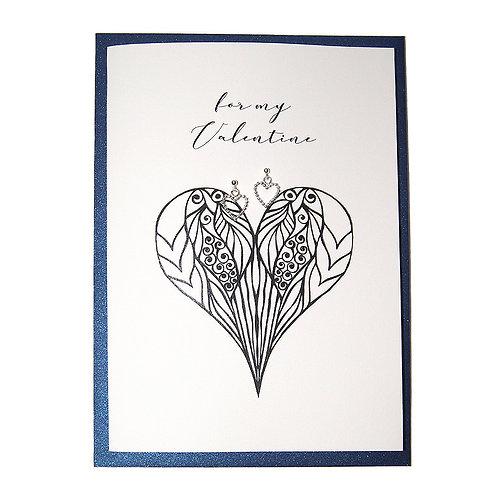 Schmuck-Geschenkkarte mit Herzohrringe aus Silber