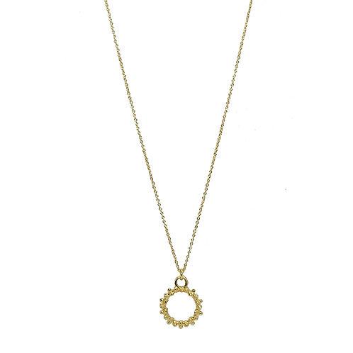 Halskette Silber vergoldet mit Ring