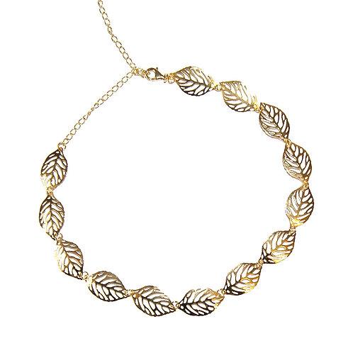Halskette Leafes gold 32-42cm ( 3 Mikron)