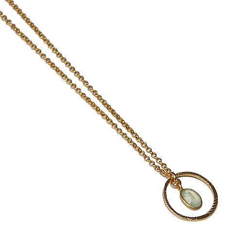 Halskette Elfi CZG 45cm ( 3 Mikron)