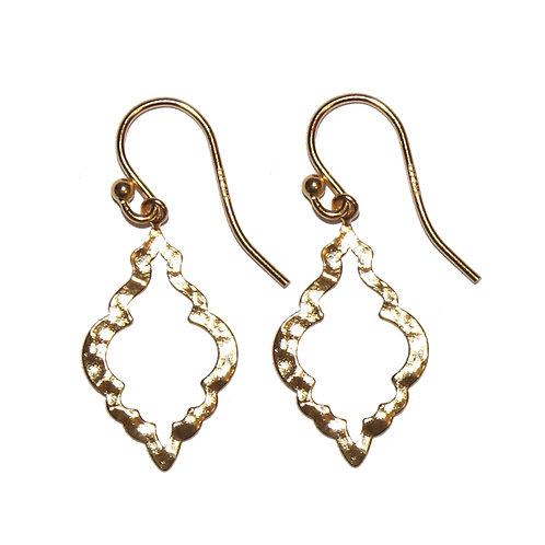 Ohrringe Boho-Style Silber vergoldet