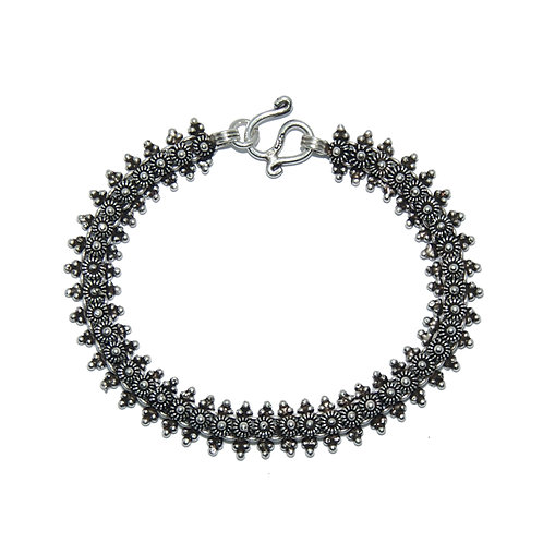 Armband Edina 17.5cm Silber dunkel