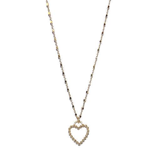 Halskette mit Herzahänger Silber vergoldet