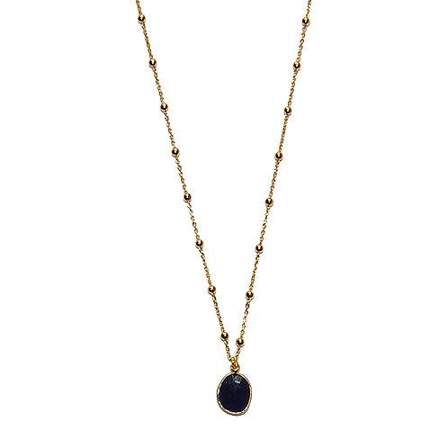 Halskette Marisa vergoldet mit Iolith-Anhänger