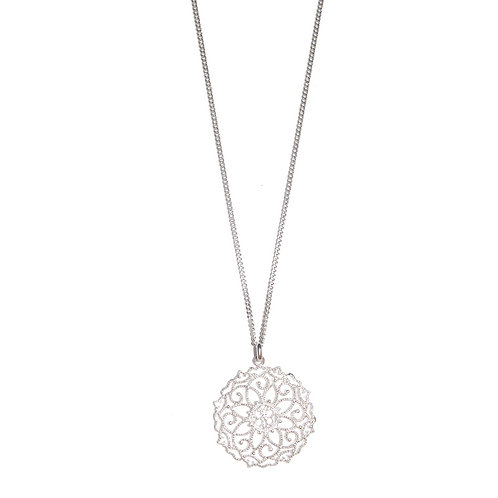 Halskette Laela 80cm Silber