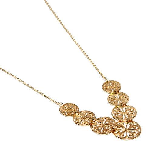 Traumhaftes Mandala Collier Silber vergoldet