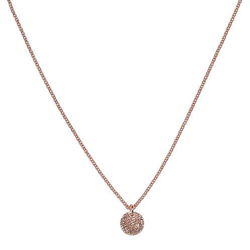 Silber Halskette rosé vergoldet mit Amulettanhänger