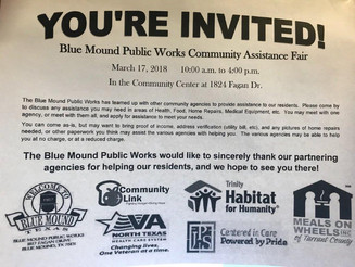 BLUE MOUND PUBLIC WORKS COMMUNITY ASSISTANCE FAIR