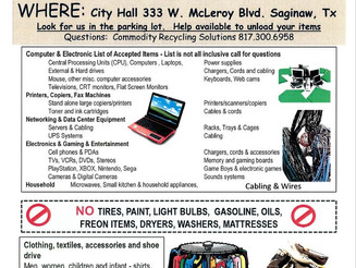 2018 FREE E-WASTE RECYCLING EVENT
