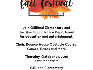 10/27/16 ~ Gililland Fall Festival