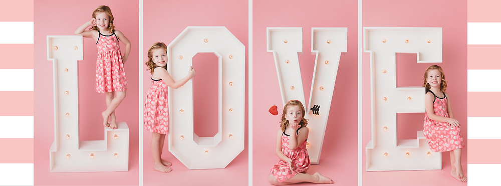 Valentine's Marquee Letters