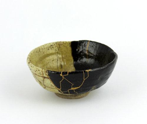 Raku tea bowl chawan kintsugi