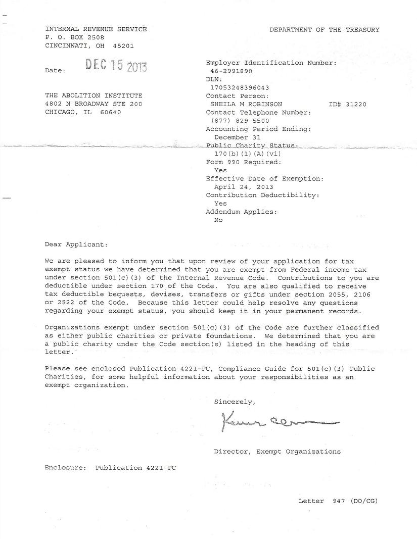 501c3 Letter for Abolition Institute.png