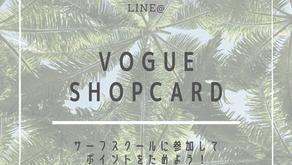 VOGUE surfing shopcard