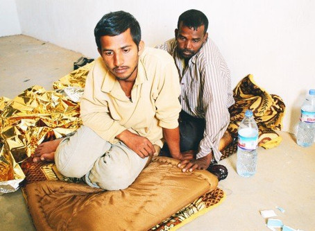 Migrants made to cross Sahara army minefield