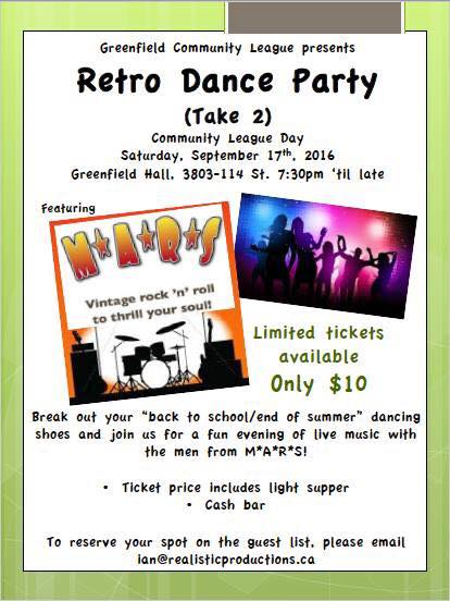 Greenfield Hall Retro Party