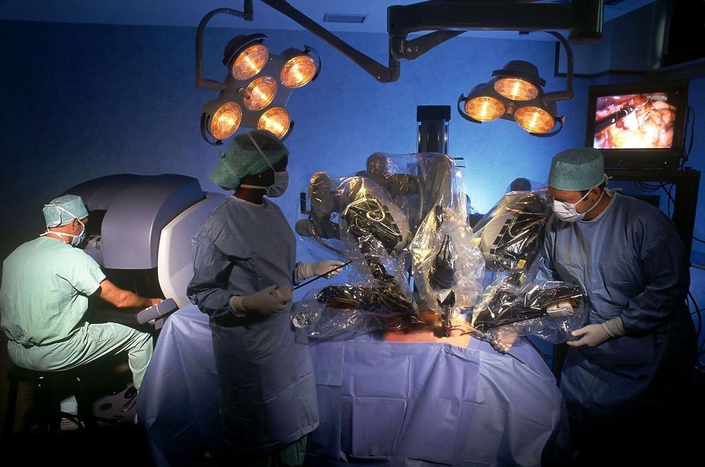 Chirurgie de la glande thyroïde par robot