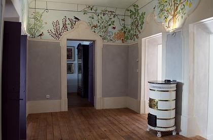 Salle de distribution de la Maison des Oiseaux - Location vacances de luxe Alentejo Villas au Portugal