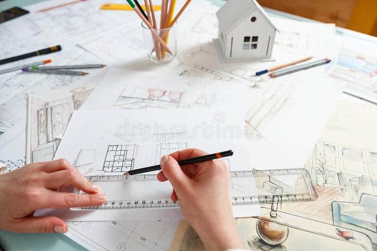 designer-works-hand-drawing-interior-wor