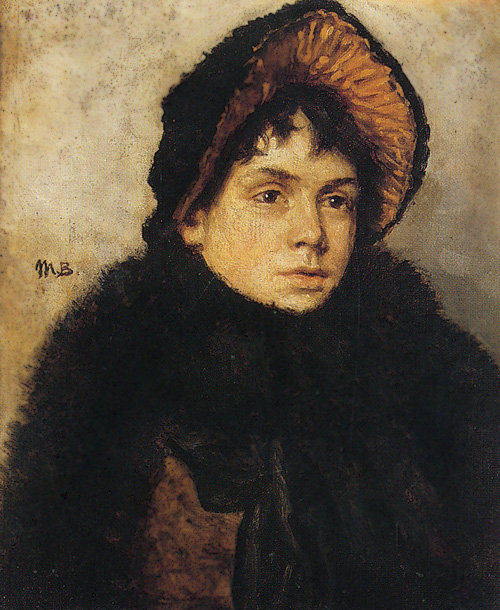 Baskirtseva Maria K. - Portrait of a Woman. Oil on canvas. 35x27cm