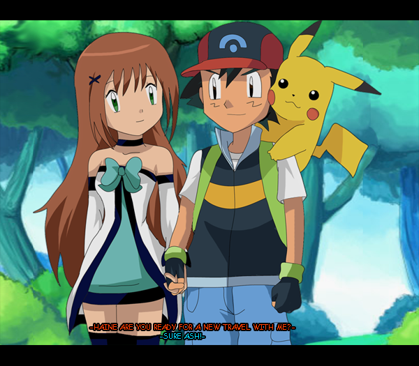 Pokemon May And Drew Kiss Images   Pokemon Images