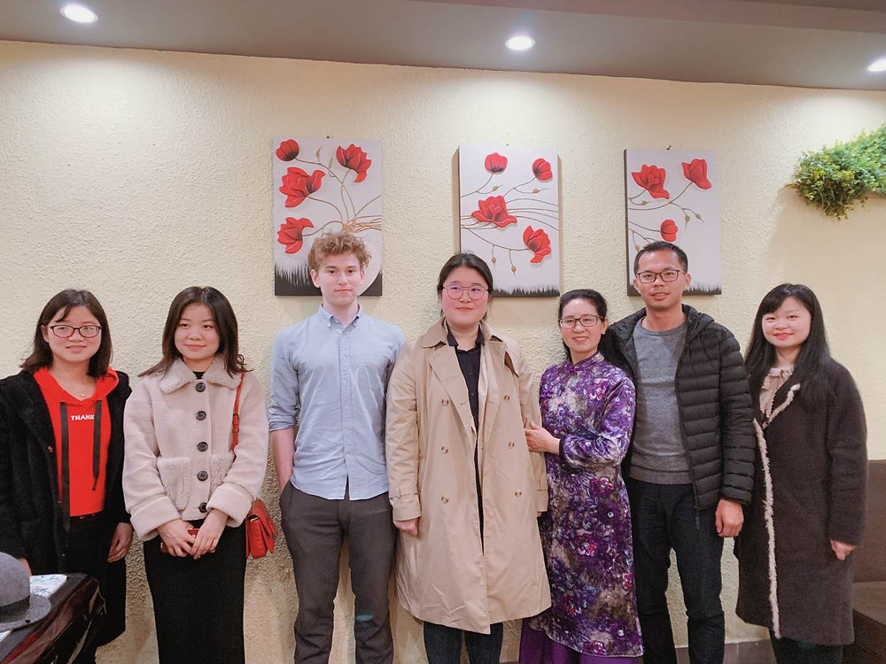 Rebecca and Ryan with their fellow Chinese teachers
